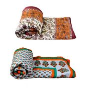Set of 2 meSleep 100% Cotton Multi Double Bed Quilt-Quilt-08-01