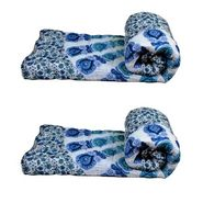 Set of 2 meSleep 100% Cotton Blue Double Bed Quilt-Quilt-09-09