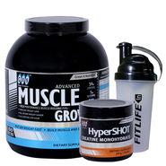 Gxn Advance Muscle Grow, 6 Lb ( 2.27Kgs ) Vanilla + Gxn Hyper Shot 300g