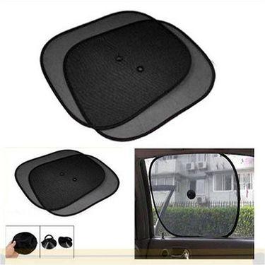 Combo Of Universal Car Foot-Mats Black + Car Side Window SunShade black
