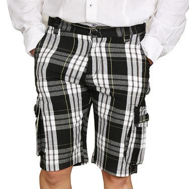 Sparrow Clothings Cotton Cargo Shorts_wjcrsht12 - Black