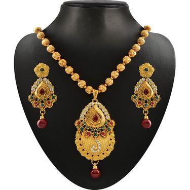 Kriaa Combo of 5 Ethnic Jewellery Set With Free Gold Plated Kada