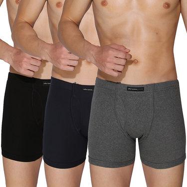 Pack of 3 Chromozome Regular Fit Trunks For Men_10326 - Multicolor