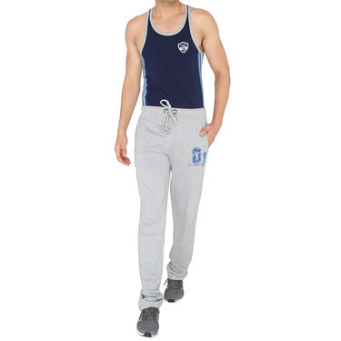 Chromozome Regular Fit Trackpants For Men_10440 - Grey