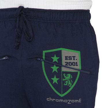 Chromozome Regular Fit Trackpants For Men_10470 - Navy
