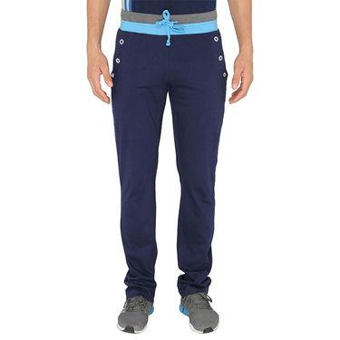 Chromozome Regular Fit Trackpants For Men_10489 - Navy