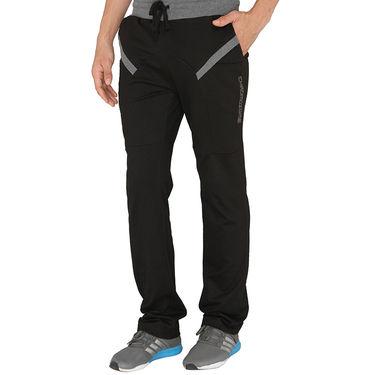 Chromozome Regular Fit Trackpants For Men_10494 - Black