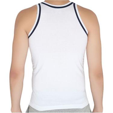 Chromozome Regular Fit Vest For Men_10579 - White & Navy