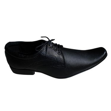 Branded Micro Leather Formal Shoes 111A -Black