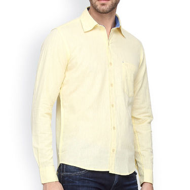 Crosscreek Full Sleeves Cotton Casual Shirt_1180315 - Yellow