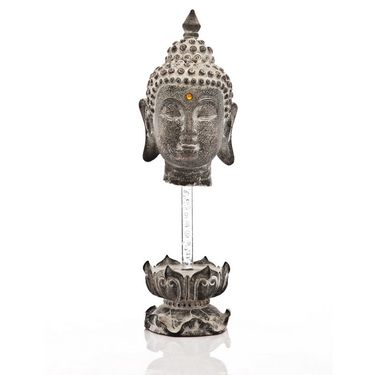 Budha Head On Pedestal-1203-07011