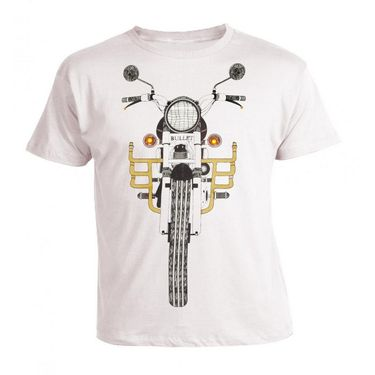 LitFab - Tshirts with Lights - Bullet - White