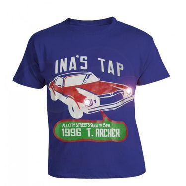 LitFab - Tshirts with LED - TSC Car - Blue
