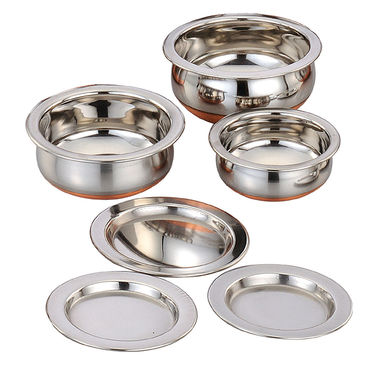 Klassic Vimal VM049 9Pcs Copper Set - Silver