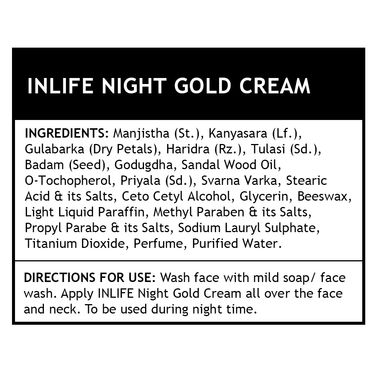 INLIFE Night Gold Cream - 50g