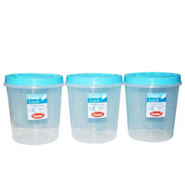 Chetan 12Pcs Twist Lock Kitchen Storage Container Set - Blue