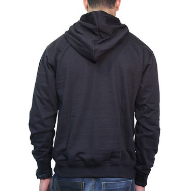 Effit Printed Regular Fit Full Sleeves Cotton Hoddies for Men - Black_PTLHODY0010