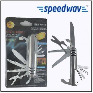 Combo of Tyre Puncture Kit & Speedwav 14 in 1 Multi-function Steel Tool Kit