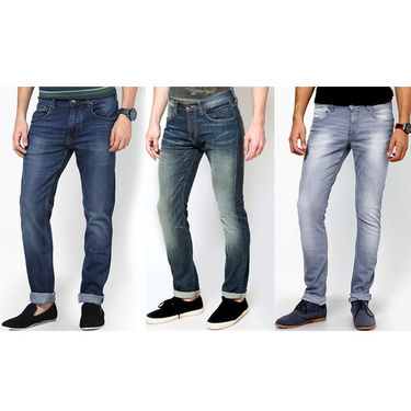 Pack of 3 Stylish Branded Jeans For Men - Raymond Cotton Fabric_npj125