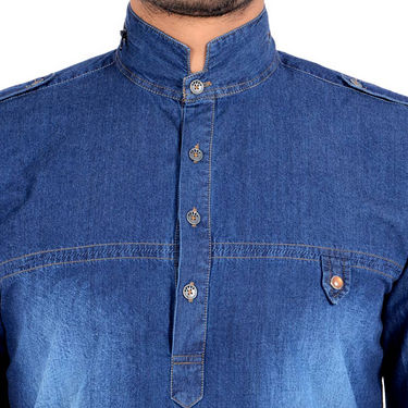 Bendiesel Denim Casual Shirt For Men_Bdc080 - Blue