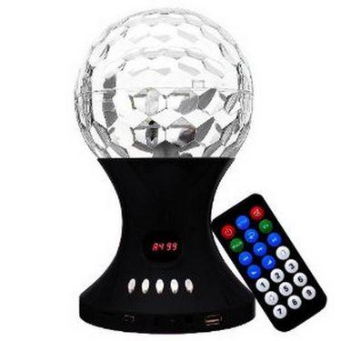 Callmate SJ-887FM LED Crystal Magic Ball Speaker - Black