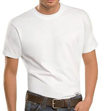 Branded Half Sleeves Plain Cotton T shirt For Men_Pcwt - White