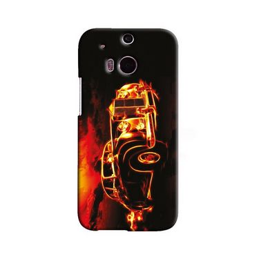Snooky 19800 Digital Print Hard Back Case Cover For Htc One M8 - Black