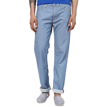 Levis Slim Fit Cotton Jeans For Men 504 Light Blue