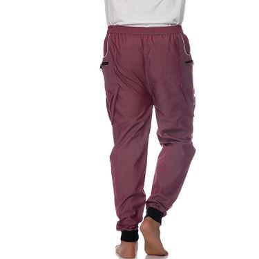 Delhi Seven Polyester Plain Trackpant For Men_Aktpm39 - Pink