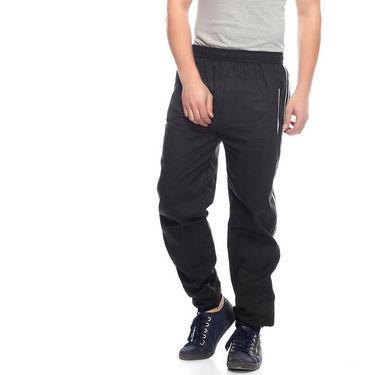 Delhi Seven Cotton Plain Trackpant For Men_Mutpm031 - Black