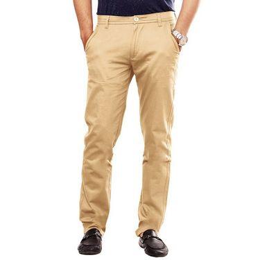 Uber Urban Regular Fit Cotton Trouser For Men_50151621421Kha - Khaki