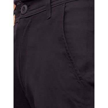 Uber Urban Regular Fit Cotton Trouser For Men_50151621421Blk - Black