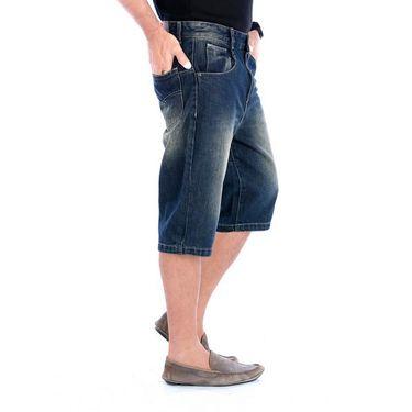Uber Urban Regular Fit Cotton Capri For Men_Mndngrnwsh - Blue
