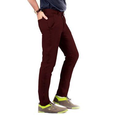 Uber Urban Regular Fit Cotton Chinos For Men_1435Mrn - Maroon