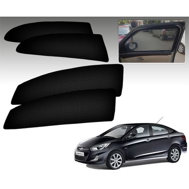 Set of 4 Premium Magnetic Car Sun Shades for HyundaiVernaFluidic