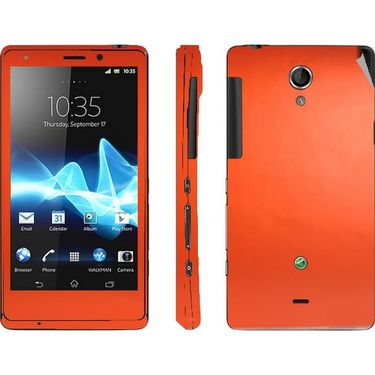 Snooky Mobile Skin Sticker For Sony Xperia T Lt30p 20827 - Orange