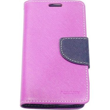 BMS lifestyle Mercury flip cover for Moto E - Purple