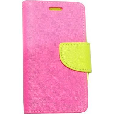 BMS lifestyle Mercury flip cover for Micromax A106 - Pink
