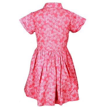 ShopperTree Pink Printed Dress_ST-1411