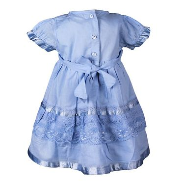 ShopperTree Blue Cambric Lace Dress_ST-1418