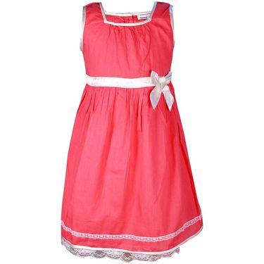 ShopperTree Sleeveless Pink Pleated Frock_ST-1427