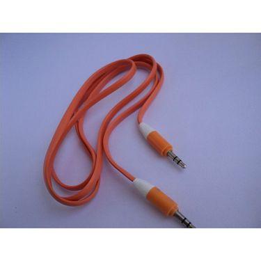 Flashmob C199AU Flat Aux Cable - Orange