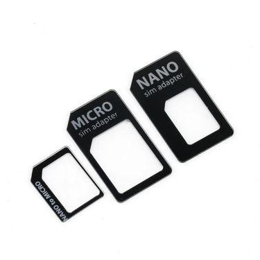 Flashmob C234SA Nano & Micro Sim Adapter - Black