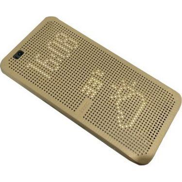 Flashmob C213FC Smart Interactive Flip Cover for HTC D820 - Golden