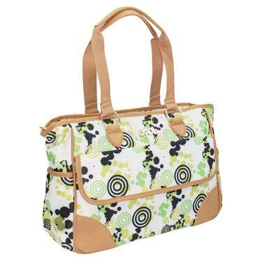Wonderkids Green Modern Print Fancy Baby Diaper Bag_BG-312-GFGD