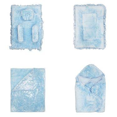 Wonderkids Baby Bedding Combo Gift Set - Blue Fur