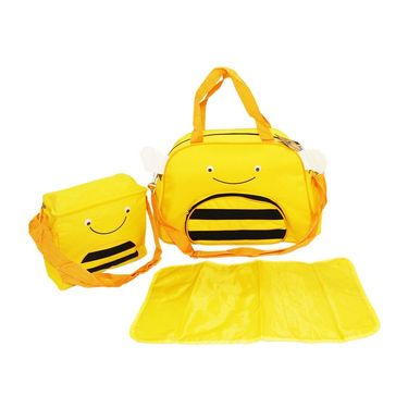 Wonderkids Honeybee Face Print Baby Diaper Bag _CH-050-HFDB