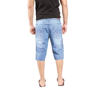 Uber Urban Cotton Shorts_15016mv - Light Blue