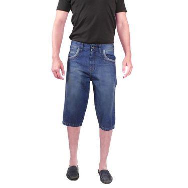 Uber Urban Cotton Shorts_15015mv - Light Blue