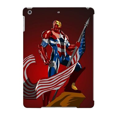 Snooky Digital Print Hard Back Case Cover For Apple iPad Air 23691 - Maroon
